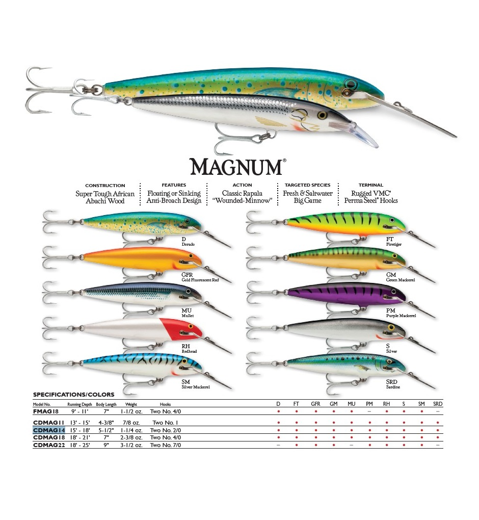 artificiale countdown magnum rapala 4fishing