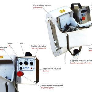 Getta Sardine Automatico pasturatore da barca Sardamatic dettaglio