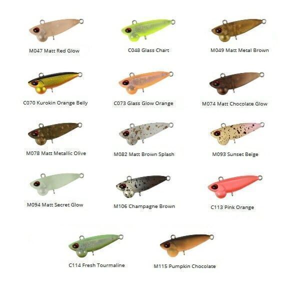 Esca Lipless Shine Ride Nano ValkeIN 4fishing tabella colore
