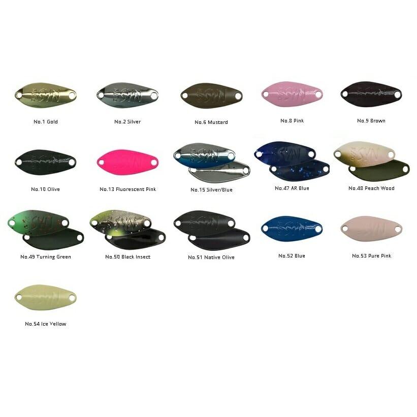 Ondulante Shynon tabella colori ValkeIN 4fishing