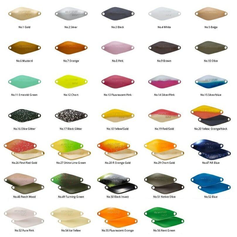 tabella colore hi burst valkein 4fishing