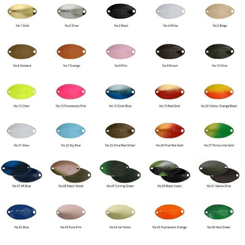 tabella colori mark sigma 1.6 gr valkein 4fishing